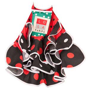 El Lola Tarifa - Mandil Negro-rojo